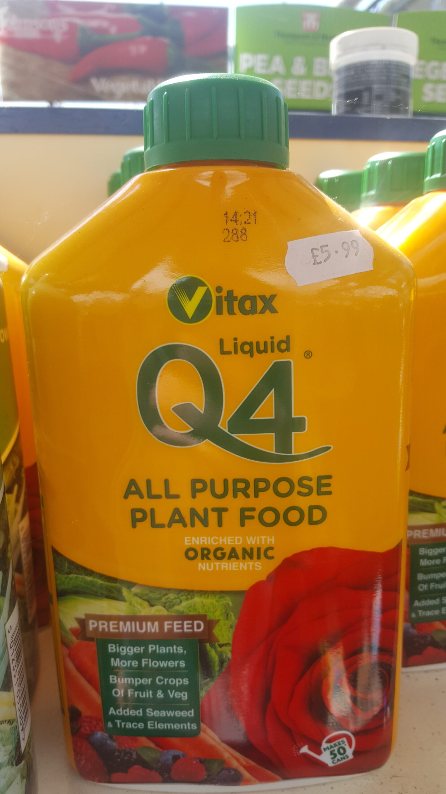 bottle of plant feed