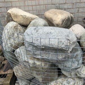 Crate of boulders